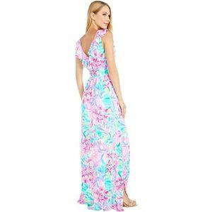 Lilly pulitzer maxi slit dress Mirella